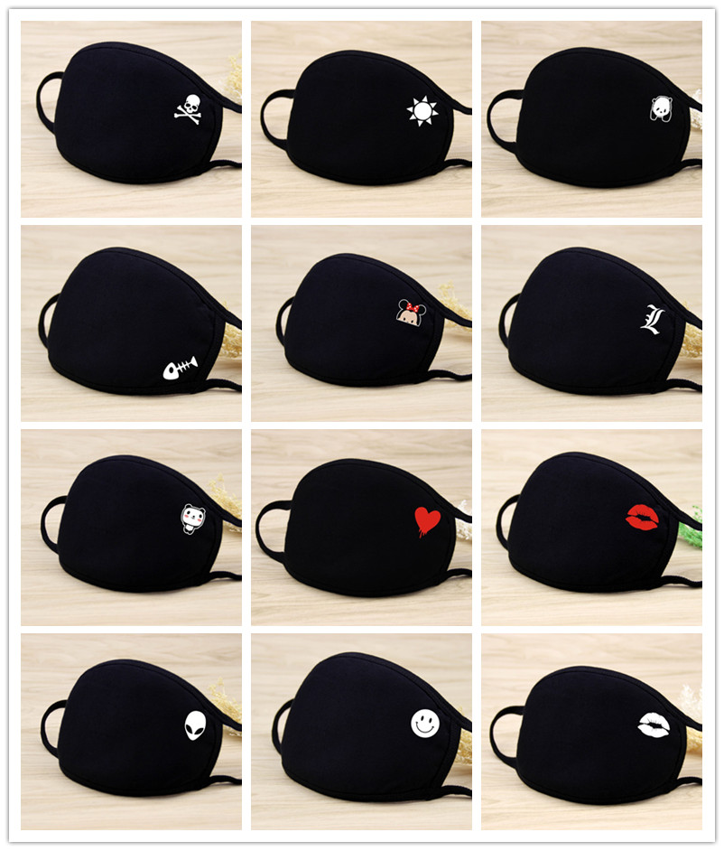 Quality 1PC Kawaii Anti Dust Mask Pure Cotton Mouth Mask Unisex Mouth Muffle Kpop Flu Face Mask Cotton Masks Keep Warm