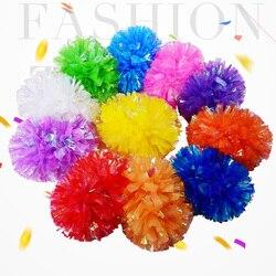 Pompons plásticos para meninas, arco-íris, ppom, adereços de reabastecimento, para meninas, pompoms, batom, antiderrapante, 1 peça
