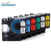 Unistar 6 stücke 12mm 45013 45010 45016 45017 45018 45019 Kompatibel Dymo D1 45013 Label Band für Dymo LabelManager 160 Label Maker