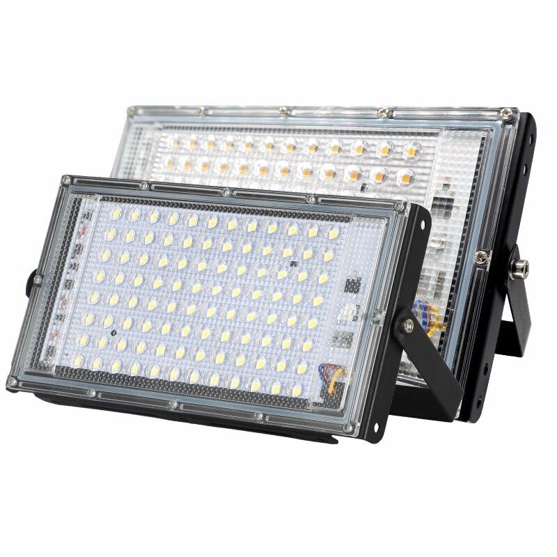 Diodo emissor de luz spotlight ac220v 50w 100 ip65 ao ar livre à prova dwaterproof água conduziu a lâmpada rua paisagem iluminação holofote