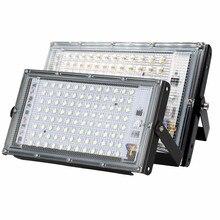 Diodo emissor de luz spotlight ac220v holofote ao ar livre ip65 à prova d30 água 30w 50 100 led lâmpada de rua paisagem luz