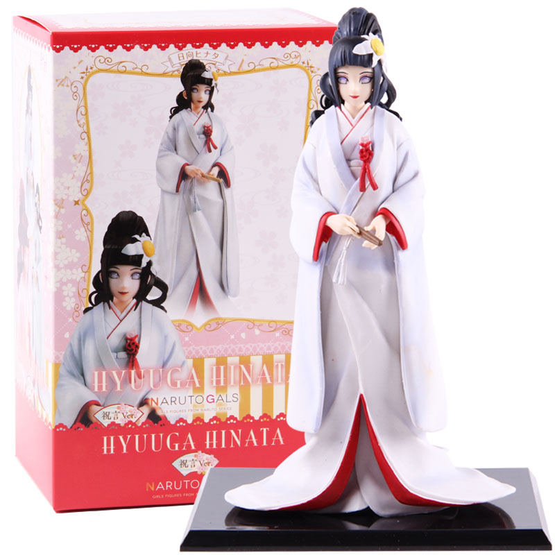 NARUTO Gals Naruto Shippuden Hyuuga Hinata Wedding Ver. PVC Hinata Hyuga Action Figure Collectible Model Toy Doll