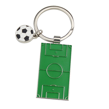 New 2018 World Cup Soccer Field Keychain Metal Football Mini Table for Sports Fan Gifts