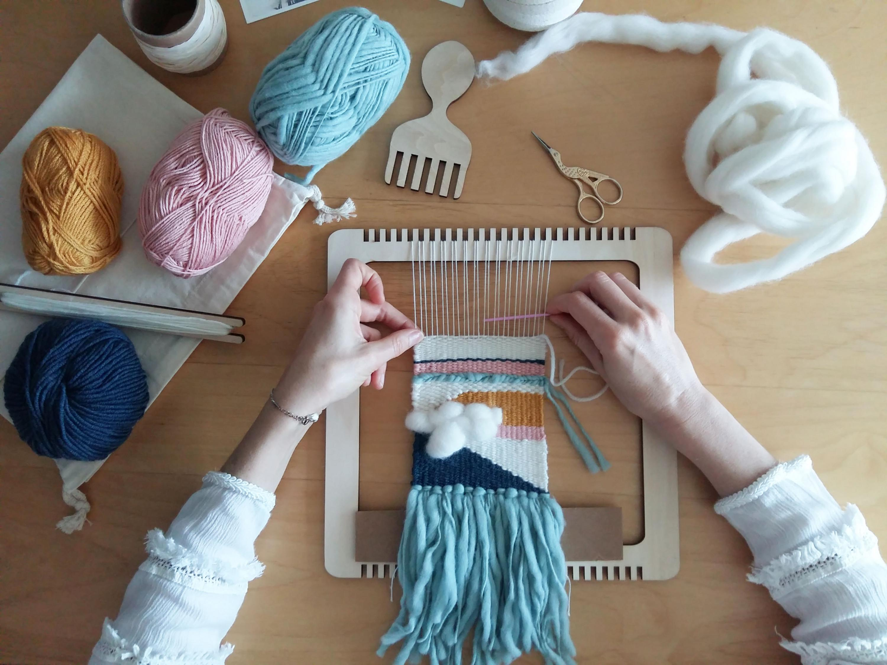 Wooden Multifunctional Simulated Loom Gift Girls Hand woven Diy Knitted Doll Crochet Toy