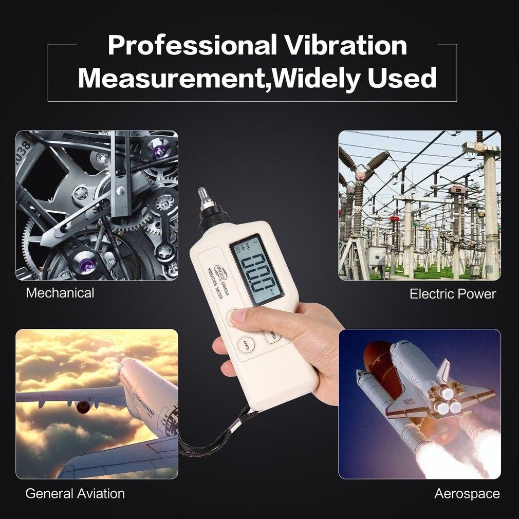 GM63A Виброметр vibrador Цифровой Вибрационный метр прибор измеряет ручной анализатор тестер анализатор датчик высокой точности