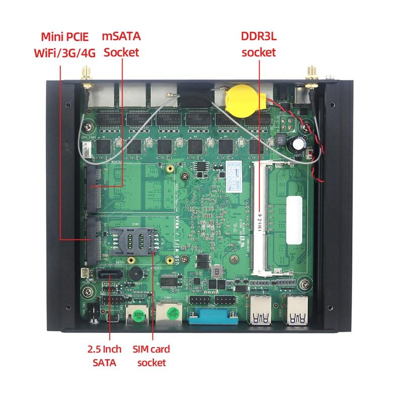 Image 5 - Xcy firewall appliance mini roteador de computador intel core i5 7200u i3 7100u i7 4500u 6 * lan intel 210at gigabit nic wifi 3g/4g sim AES NIMini-PC   -
