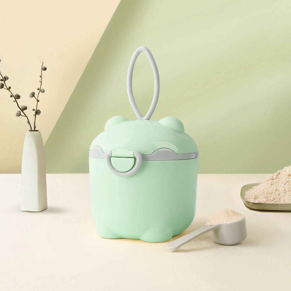 Baby Milk Powder Box Spoon Portable Baby Food Storage Cereal Milk Powder Toddle Box Infant Container Snacks Box Essenti