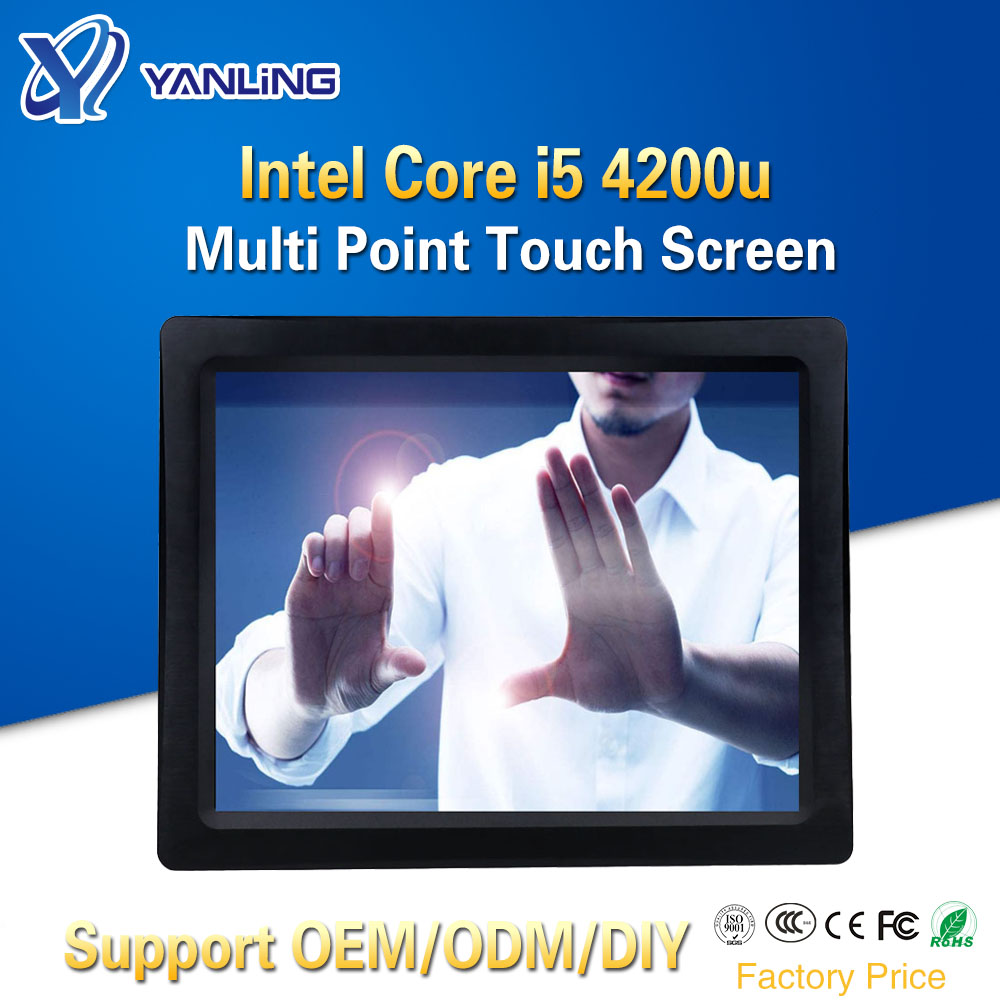 Yanling 15 Inch Smart Capacitive Touch Screen Computer Intel I5 4200u Dual Core Fanless All In One Tablet PC Embedded SIM Slot