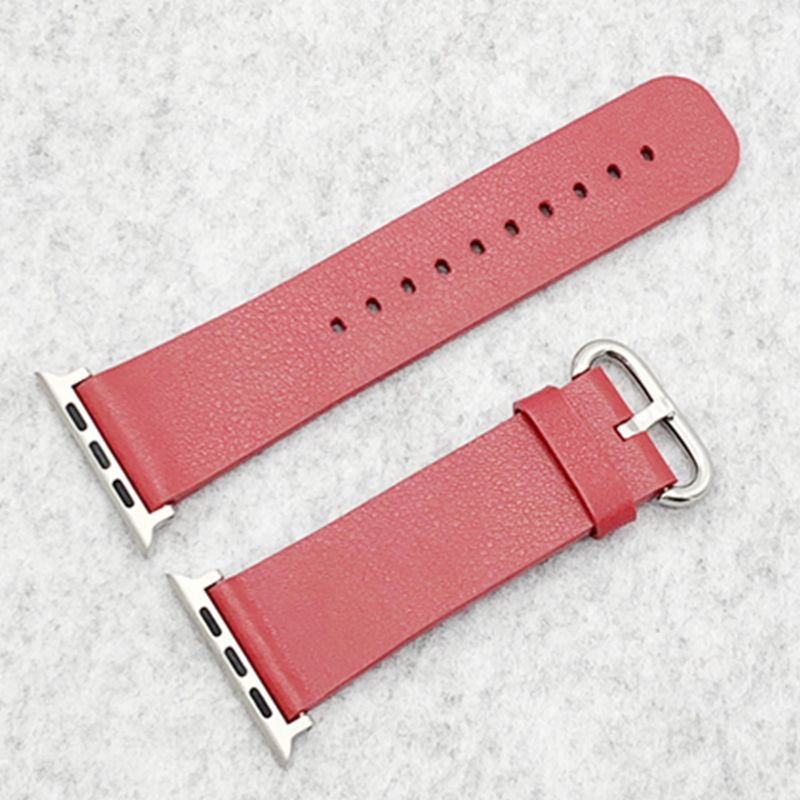 Suitable For Apple Watch Leather Watch Strap APPLE Watch4 Loopback Watch-buttom IWatch Watch Strap With Connector
