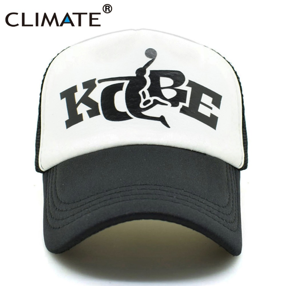 CLIMATE Bryant Trucker Cap Kobe Lover Basketball Fans Caps Cool Summer Baseball Caps Mesh Net Trucker Cool Sport Caps Hat