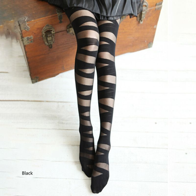 Hot Women/'s Tattoo Pattern Pantyhose Footed Tights Tights Stockings