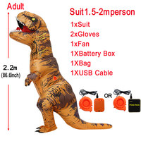 Inflatable Dinosaur Costumes T rex Cosplay Anime Blowup Halloween Costume for Women Men Child Adult Kids mascot