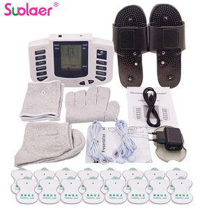 Image 1 - Russian/English Electrical Muscle Relax Stimulator Therapy Massager 16 Pads Pulse Tens Acupuncture Pain Relief Glove Sock Bracer