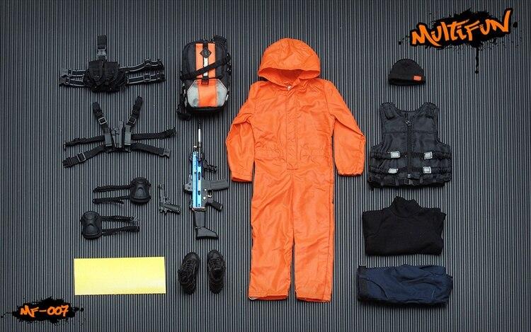 Quarantine Zone Agent Multifun Action Figures 1//6 Scale Orange Jumpsuit