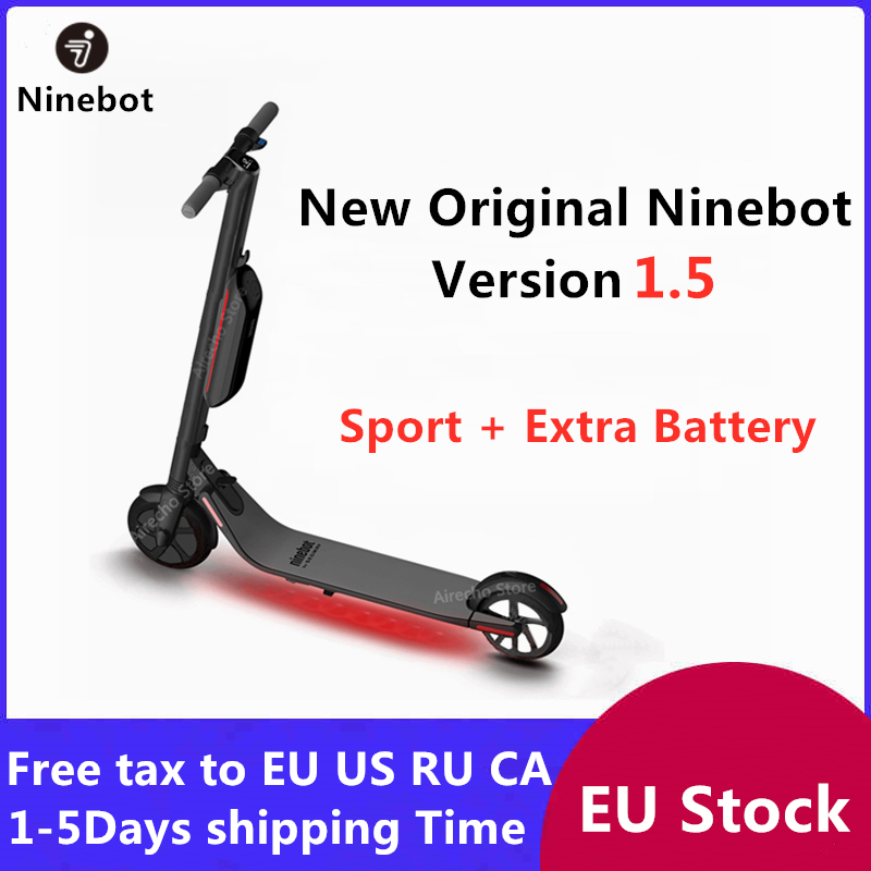 New Ninebot KickScooter ES4 / ES2 Smart Electric Kick Scooter Version 1.5 foldable lightweight  skateboard Long Board EU Stock