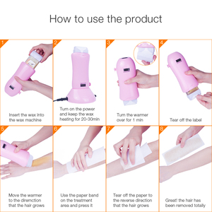 Image 5 - Foreverlily LDC display Mini SPA Hand Epilator Feet Paraffin Wax Machine Body Depilatory Wax Heater Hair Removal Tool