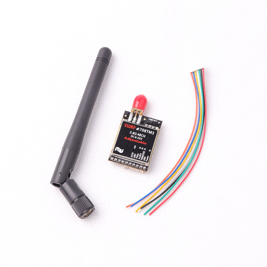 EWRF 7086TM3 5.8G 48CH FPV Transmitter Wireless FPV Audio Video Transmitter 25mW/200mW/600mW Switchable Support OSD Configuring