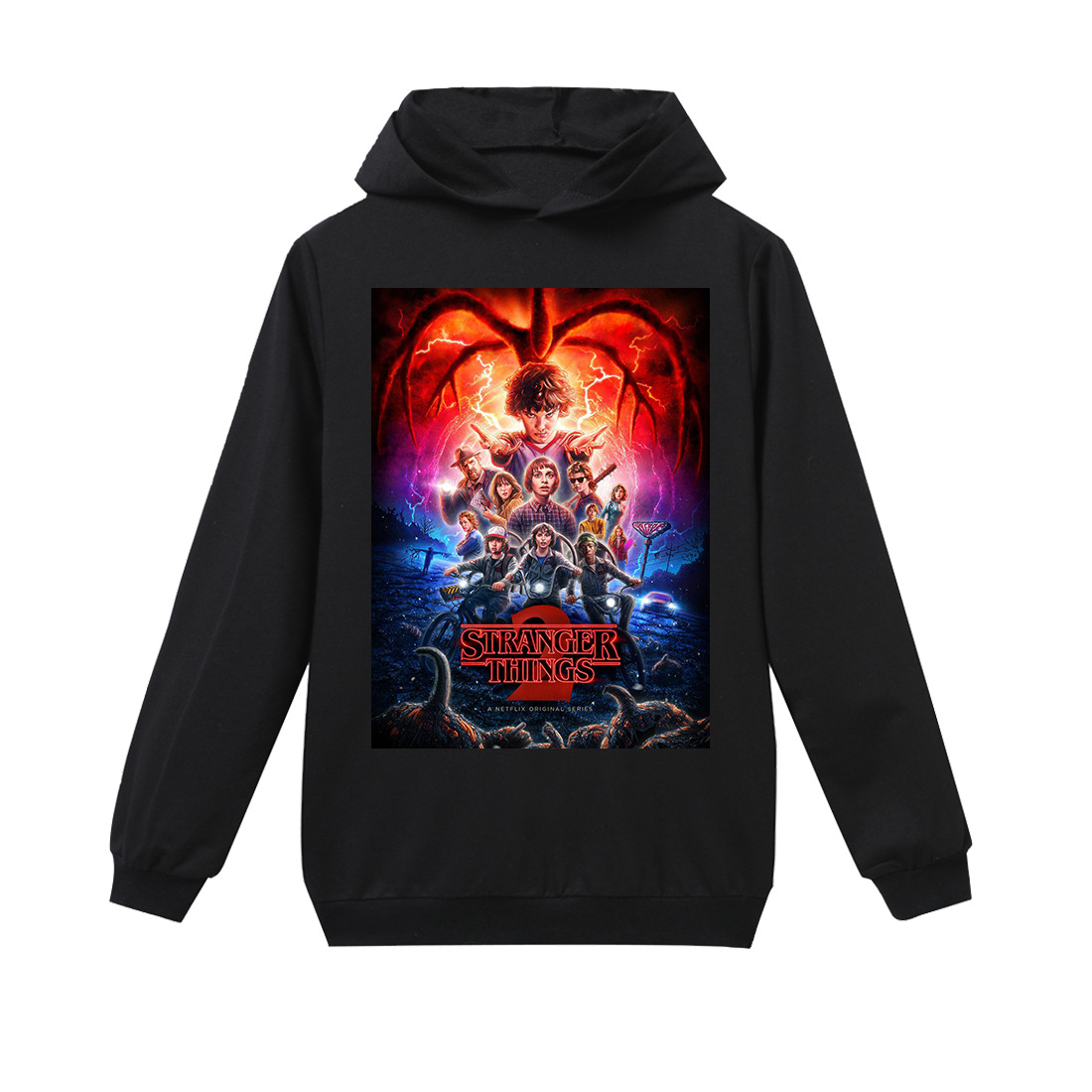 T-Shirts Stranger Things Long-Sleeve Girls Toddler Boys Kids Hoodies for Fille Enfant title=