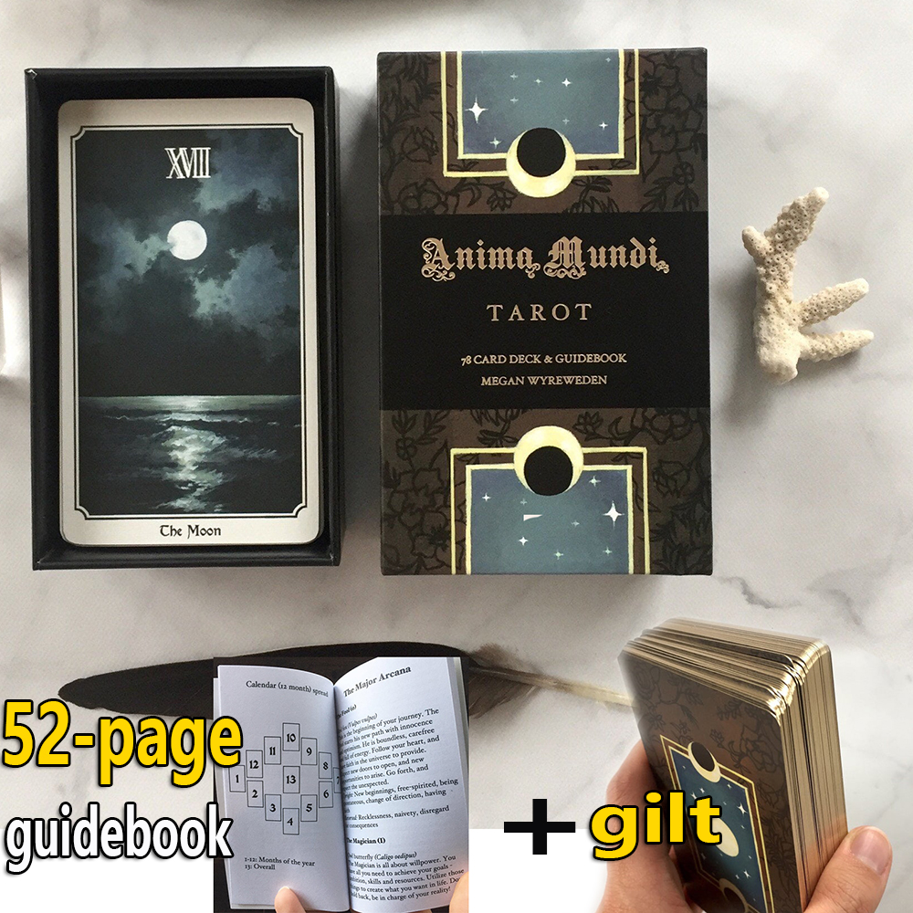 Anima Mundi Tarot Deck 78 Card Deck With Guide Book Nature Deck Occult Divination Cards Major And Minor Arcana Game Gilt Origin