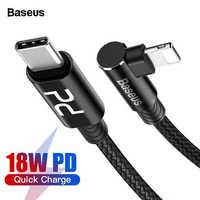 Baseus 18W PD USB di Tipo C a Per Cavo di Fulmine Per il iPhone 11 Pro Max XS Max XR X 8 più Veloce di Carico del Caricatore del Cavo USB Cavo