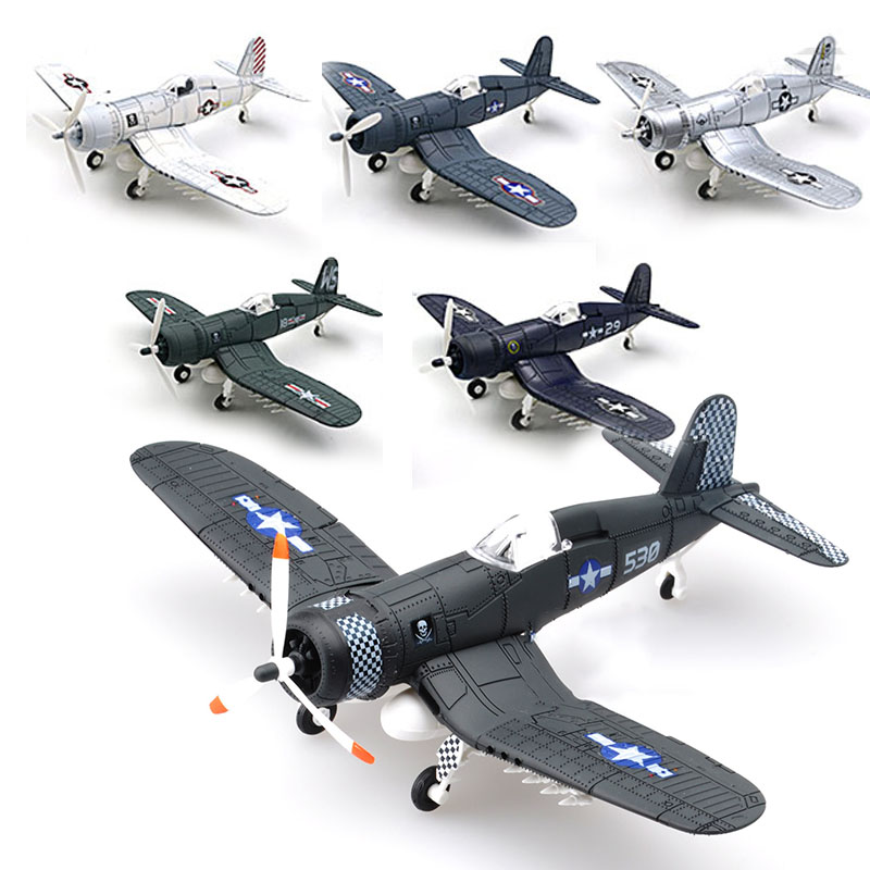 1/48 Scale Assemble Fighter Model Building Kit Military Toys WW2 British F4U Hurricane Spitfire Aircraft Diy Transport Airplane image