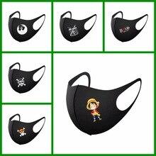 Mouth-Muffle-Masks Anime One-Piece Japan Bilayer Face Washable Winter Luffy Black Unisex