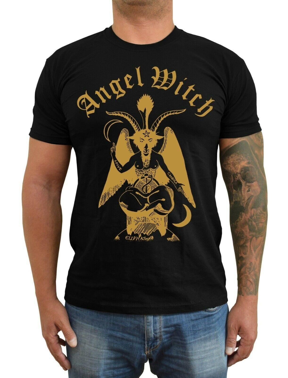 Anjo bruxa 1978r. Camiseta demo nwobhm heybourne (preto branco) S-5XL