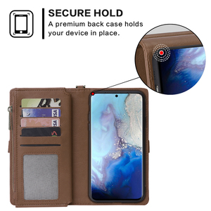 Image 4 - For Samsung Galaxy S20 Plus A71 A51 PU Leather Wallet Case Simple Style Detachable Magnetic Flip Case Phone Protective Cover