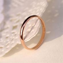 Tytanowa stal różowe złoto antyalergiczne gładkie proste pary ślubne pierścionki biżuteria dla mężczyzny lub kobiety prezent tanie tanio CN (pochodzenie) Ze stali tytanu MIŁOŚNICY Metal TRENDY 371345 zaręczyny