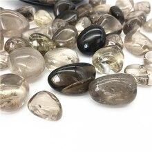 200 г Натуральный дымчатый кварц, сверкающие кристаллы, Кварцевая галька, полированный камень, целебный Природный Кварц, кристаллы