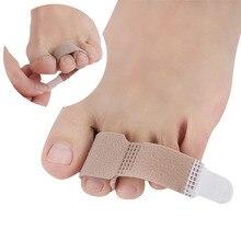 2/10Pcs Fabric Toe Finger Straightener Big Toe Hallux Valgus Corrector Bandage Toe Separator Splint Stretchers Foot Care Tools