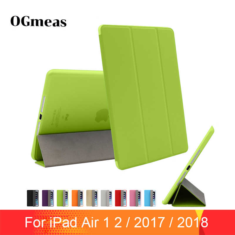 Voor Ipad Air 2 Air 1 Case Ipad Case Funda Ultra Dunne Pu Lederen Silicone Hard Cover Voor Ipad 2017 2018 9.7 6th Generatie Case