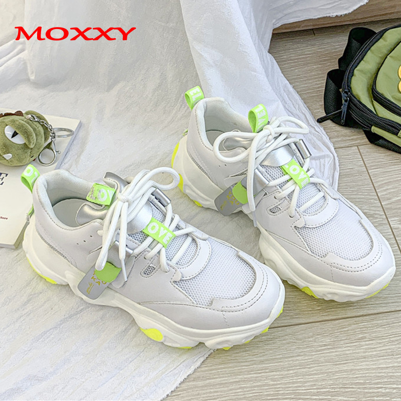 2019 New Fashion White Sneakers Women Casual Shoes Woman Sport Running Chunky Sneakers Platform Ladies Sneakers chaussures femme in Women 39 s Vulcanize Shoes from Shoes