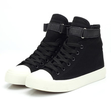 Whoholl Brand Casual Shoes Women Sneakers High Top Canvas Woman Vulcanized Zapatillas Mujer 40