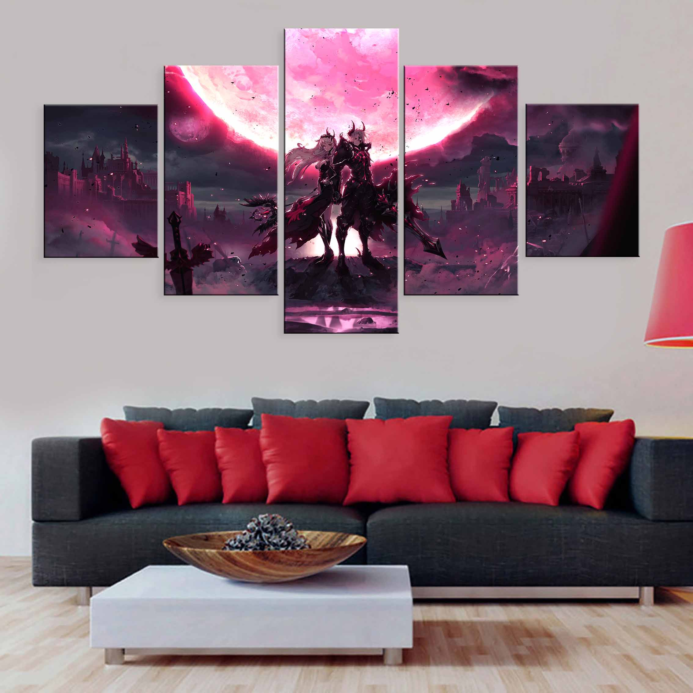 Pictures Living Room Modular Printed Cartoon Kings Raid Pandemoniumx Painting Home Decor Canvas Wall Art Poster 5 Pieces in Painting Calligraphy from Home Garden