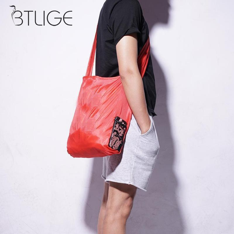 Magic Folding Shopping Bag Foldable ECO Grocery Bag Reusable Recycle Cloth Shopper Bag Large Capacity Top Handle Bag
