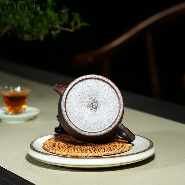 240ml Yixing violet argile théière thé cérémonie doit avoir théière à la main argile thé ensemble bouilloire théière ménage Drinkware