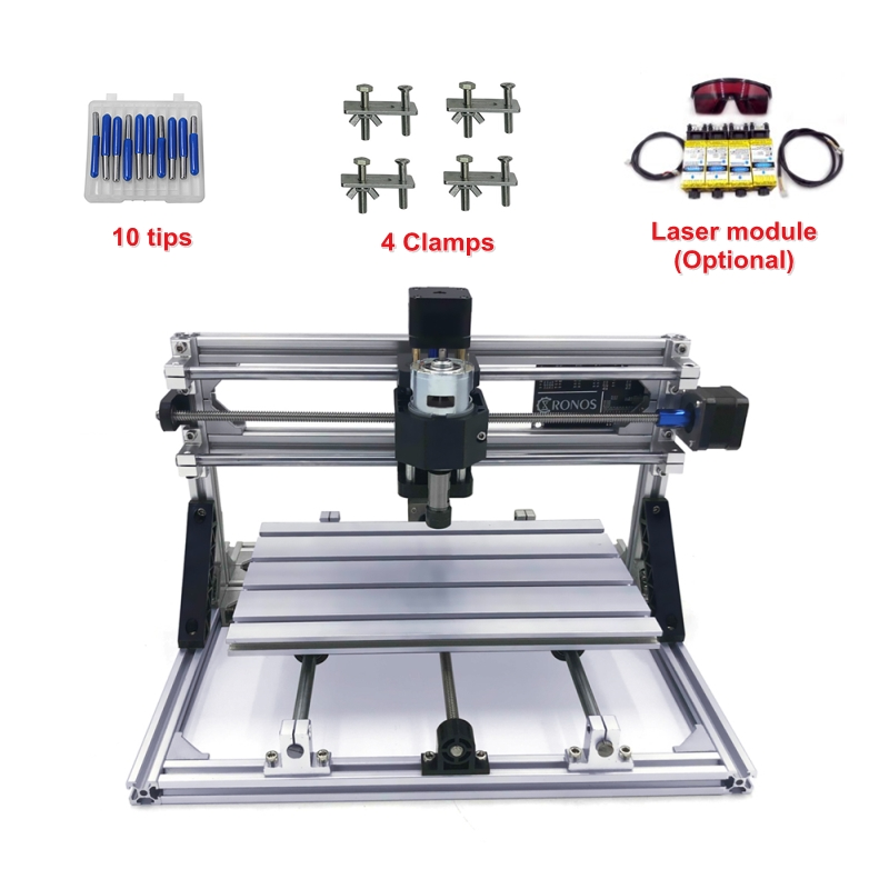 With GRBL control DIY mini CNC 2418 PRO without laser or with  head  engraving Pcb Milling machine