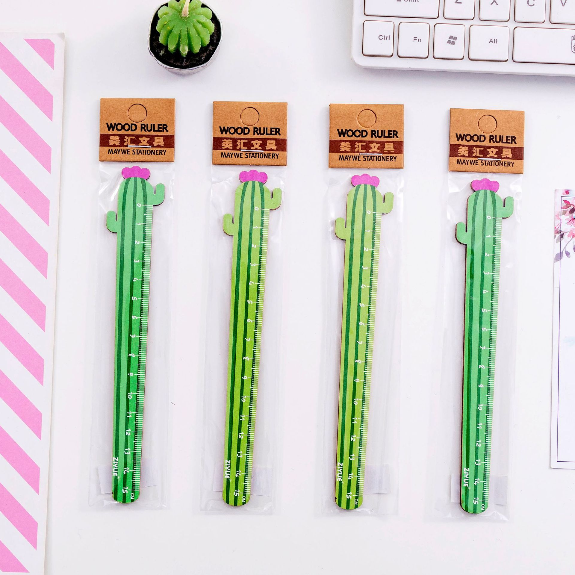 Cute Cartoon Carrot Cactus Ruler Student Cartoon Art Drawing Tool  Learning Stationery Drawing School Office Supplies