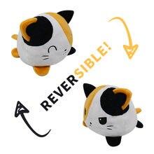 Kawaii acessórios anime crianças de pelúcia presente aniversário polvo pelucia reversivel brinquedos gatos unicornio diferentes humores pingente