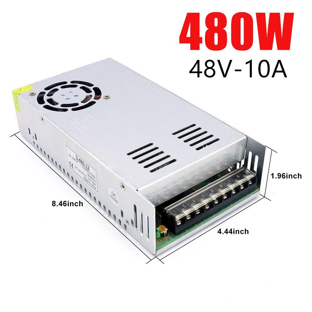 DC 48V 360W 400W 480W 10A импульсный источник питания трансформатор переменного тока DC SMPS 7.5A 8.3A