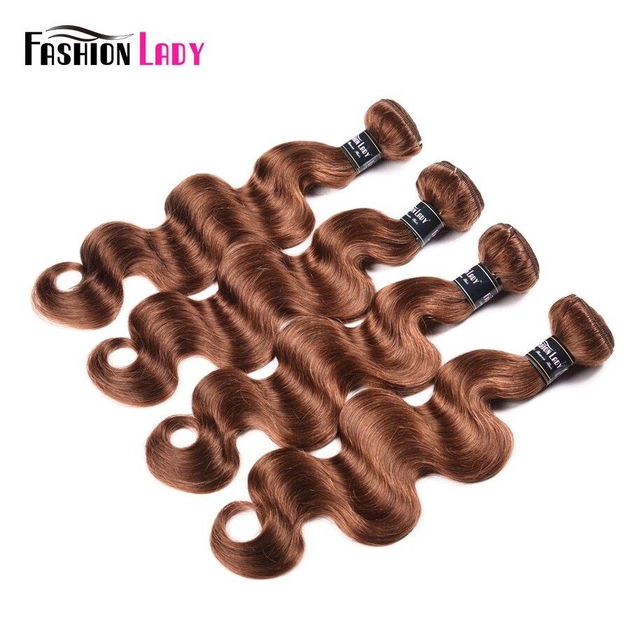 Image 3 - Fashion Lady Pre Colored Bundles Indian Human Hair Weave #30 Bodywave Hair 1/3/4 bundle Per Pack Non Remy HairHair Weaves   -