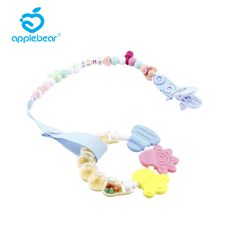 Anti-drop Baby Nipple Clip Chain Can Be Stretched 70cm With Spring Translucent Nipple Chain Baby Teether Nipple Anti-drop Chain
