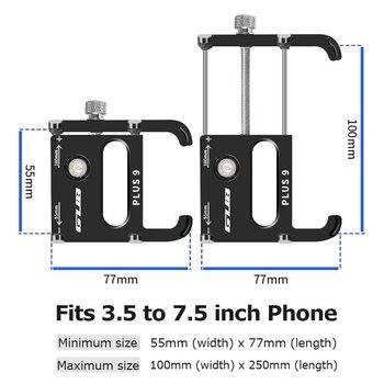 """GUB aluminium vélo support pour téléphone 3.5 """"à 7.5"""" vélo téléphone montage sport caméra lumière transporteur moto guidon pince support 2"""