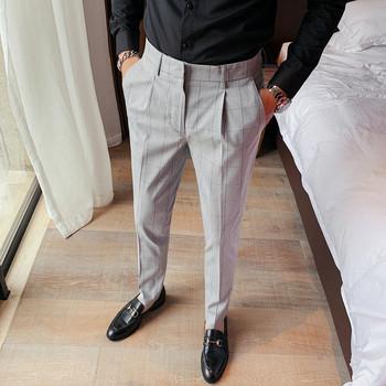 Brytyjski styl jakości panowie Slim Fit Casual spodnie w kratę mężczyźni odzież 2020 wszystko mecz biznes formalna odzież spodnie biurowe 36 tanie i dobre opinie MOTUWETHFR CN (pochodzenie) pants men COTTON POLIESTER spandex Mieszkanie Wyjściowe na zamek błyskawiczny Spodnie garniturowe