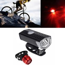Bike Cycling Lights LED Bicycle Front Head light+Tail light Set MTB Bike Rear Lights Cycling Lamp Flashlight Bicycle Accessories cheap S-461 Frame Battery Black Red 2 x CR2032 batteries ( Included) 9 8 cm XPE 3W LED PC+ABS