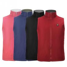 Зимняя куртка с электрическим подогревом для мужчин и женщин, жилет с регулируемой температурой, мягкий жилет, подарок, одежда из углеродного волокна, зарядка через usb