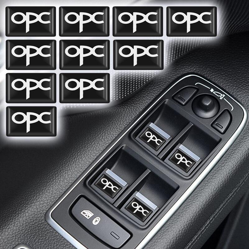10 pièces époxy 3D voiture autocollant drapeaux emblème décalcomanie décoration pour Opel OPC Logo Astra H G J K F Zafira A B Corsa B C D Mokkav