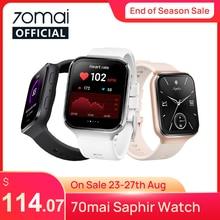 70mai-reloj inteligente, Smartwatch con Bluetooth, GPS, Monitor de ritmo cardíaco de deporte, resistente al agua hasta 5atm, recordatorio de llamadas, APP 70mai