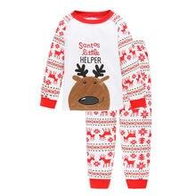 Детские пижамы tuonxye пижамный комплект с рождественским оленем